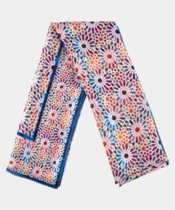 Pañuelo de seda con estampado multicolor