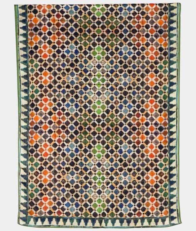 Pañuelo estampado mosaicos geométrico multicolor