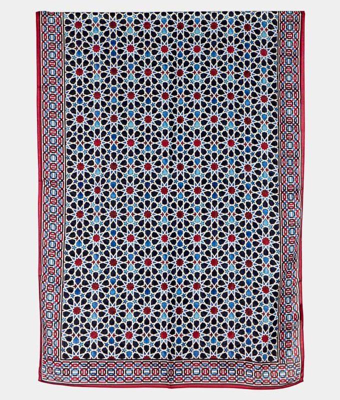 Alhambra tiles inspired scarf