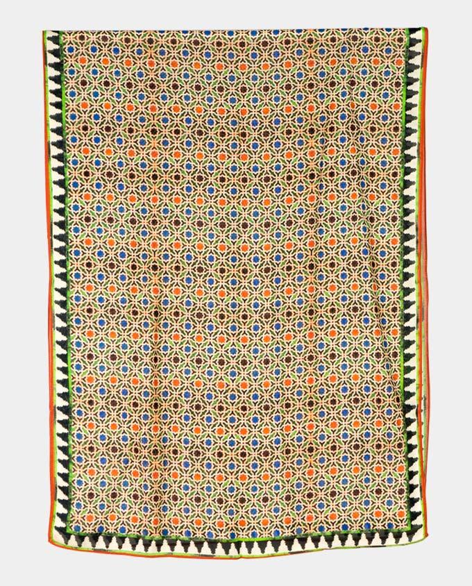 Pañuelo para el cuello con estampado geométrico multicolor