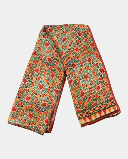 Pañuelo para el cuello con estampado inspirado en las geometrías árabes