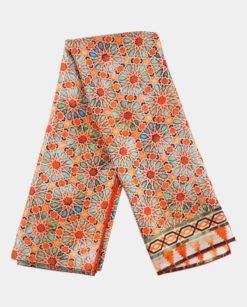 Pañuelo de seda elegante naranja zellige