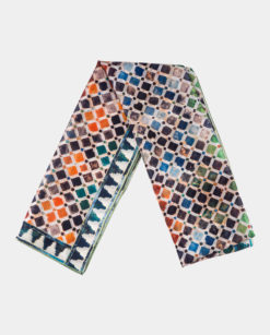 Pañuelo de seda estampado multicolor