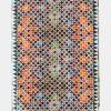 Fular de seda para la cabeza estampado con geometrías orientales