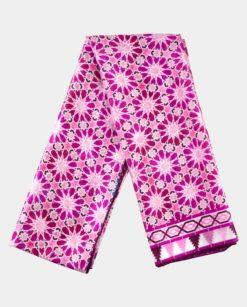 Pañuelo de seda para el cuello rosa