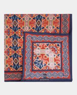 Pañoleta de seda para el cabello burdeos