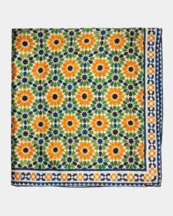 Pañuelo seda cuadrado multicolor para el cuello