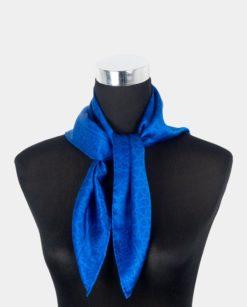 Pañuelo de seda cuadrado azul para el cuello