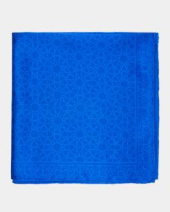 Pañuelo seda cuadrado para el cuello azul