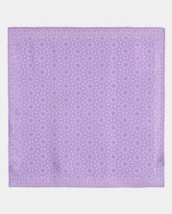 Pañuelo de seda cuadrado morado