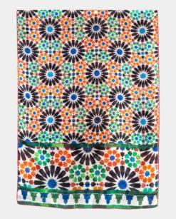 Pañuelo de seda con print geométrico