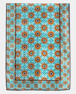 Pañuelo de seda grande con geometrías