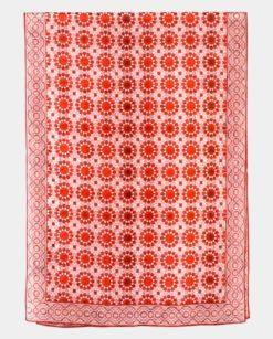 Pañuelo de seda para mujer estampado con geometrías