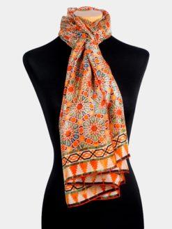Pañuelo de seda estampado para la cabeza