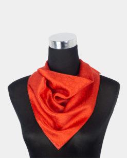 pañuelo cuadrado de seda rojo para el cuello