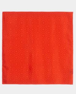 pañuelo cuadrado rojo con geometrías