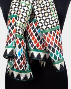 pañuelo de seda mujer multicolor