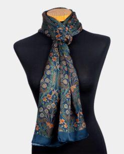 Foulard de seda para el cuello con estampado floral