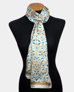 Pañuelo de seda con estampado oriental para el cuello