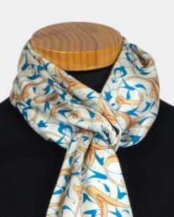 Pañuelo para el cuello de seda con estampado oriental