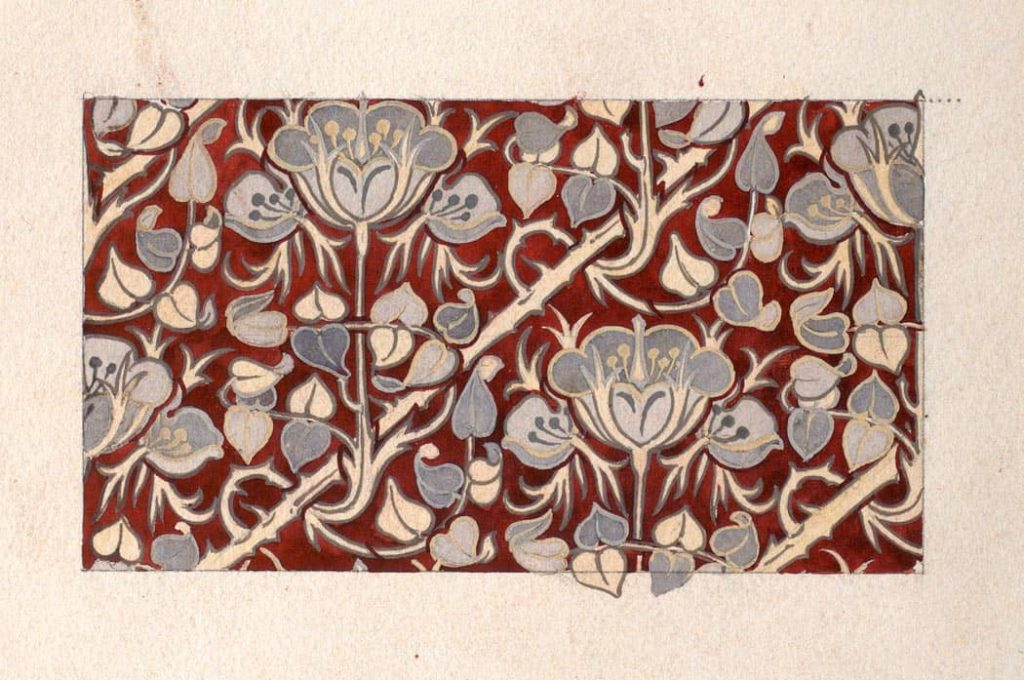 estampado floral inspirado en el art nouveau