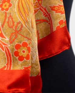 chal grande de seda natural cosido a mano