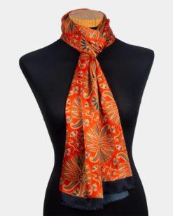 Foulard para hombre para usar en el cuello rojo y negro