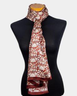pañuelo seda mujer para el cuello burdeos