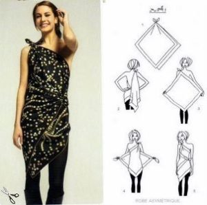 How to make a dress with a scarf