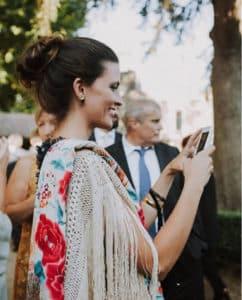 Alternativas al chal para una boda