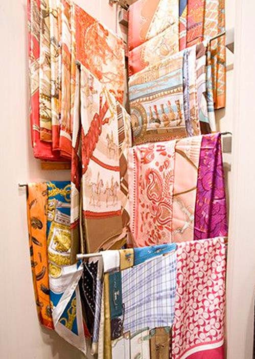 how to store large silk scarves