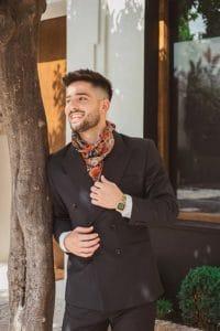 Man with silk neckerchief