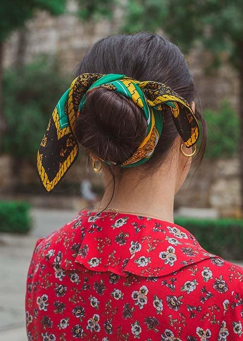 Silk scarf for hair