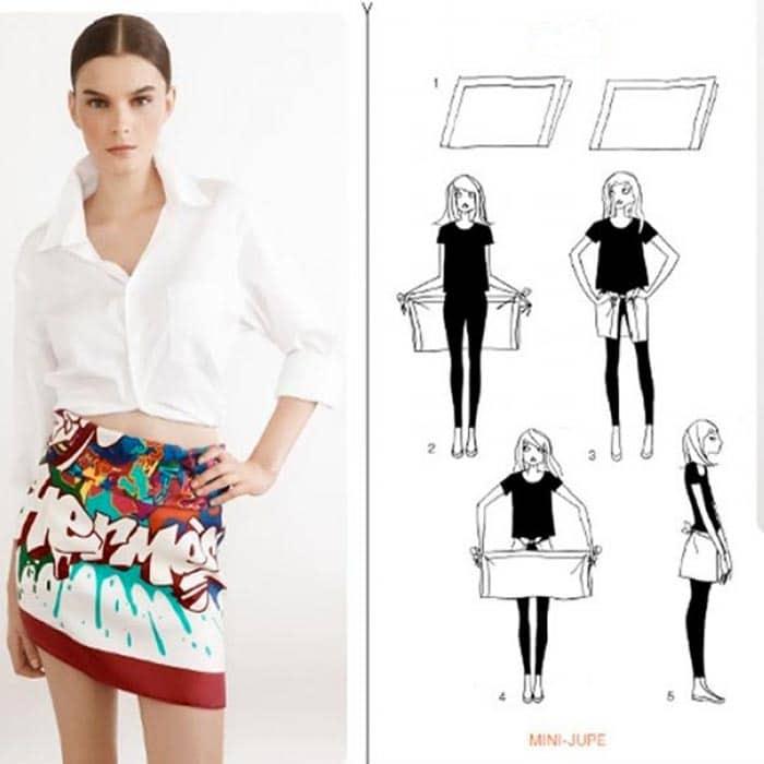 Cómo hacer una falda con un pañuelo